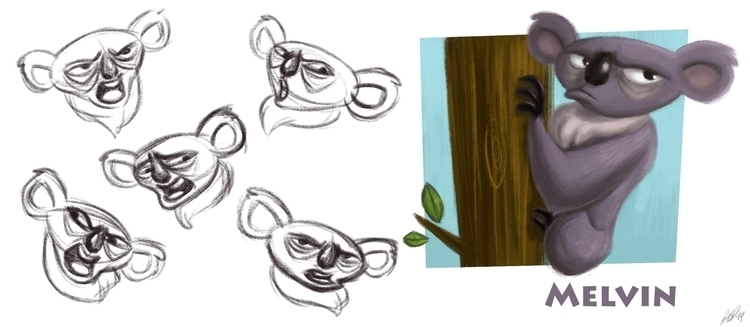Melvin, evil koala - animal, animation - beasketches | ello
