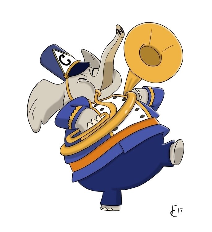 Elephant Marching Band - characterdesign - finbarcoyle | ello