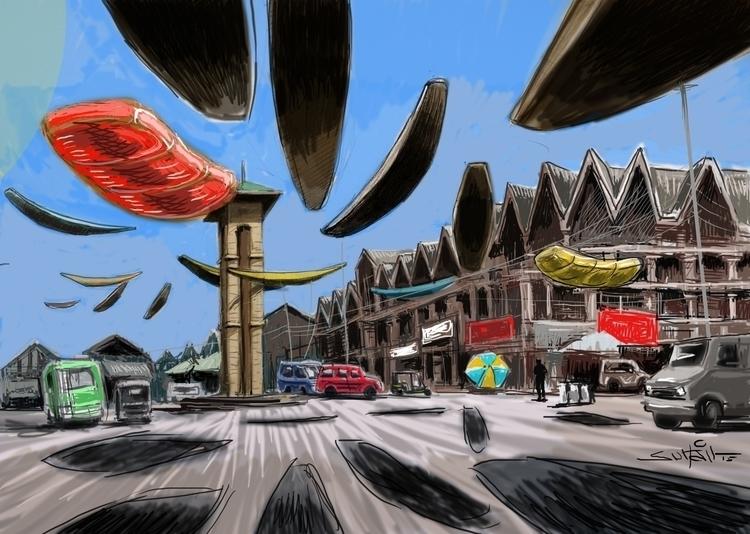 boats roved - illustration, #digitalillustration - suhailnaqshbandi | ello