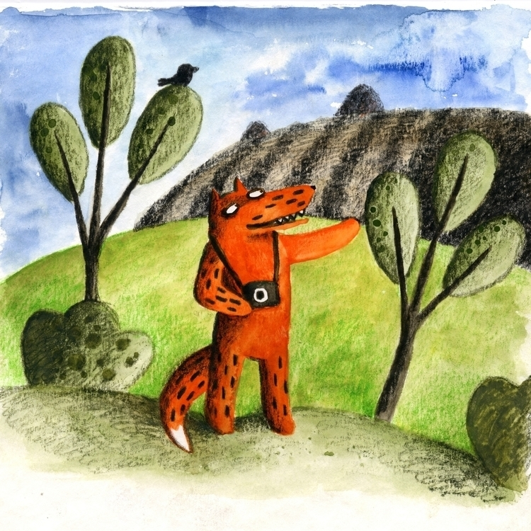 Nostalgia - fox, fields, photo, bird - prianikn | ello