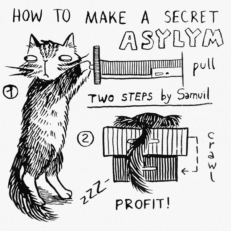 secret asylym - cat, comics, comic - prianikn   ello