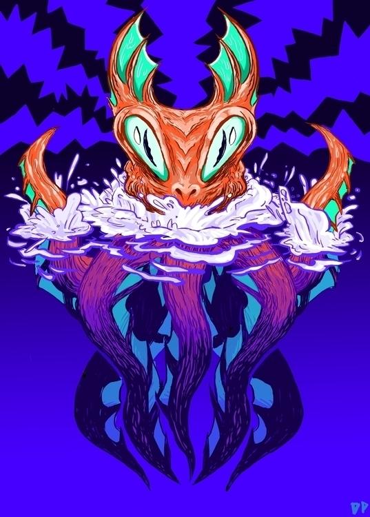 Attack Deep - illustration, seamonster - devyn_park | ello