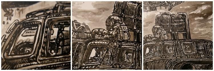 Rid details - painting - stephanemercier   ello