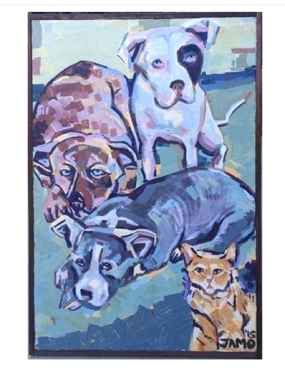 Country, Pax, Pudge, Kitty - painting - jamiegmorton | ello