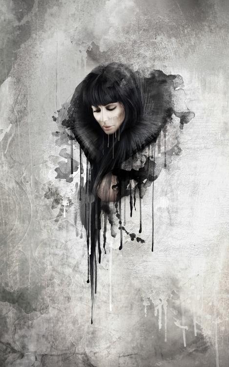 Oblivion - dark, sadness, splatterpainting - ela-4572 | ello