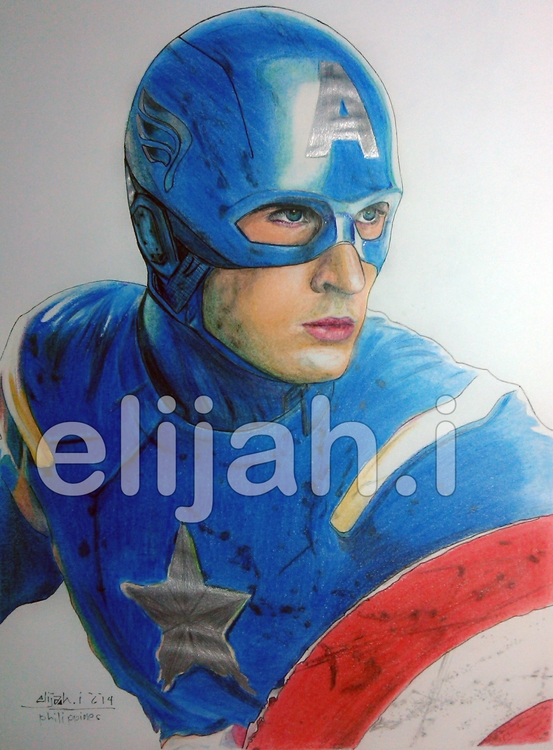 Captain America - drawing, illustration - elijahinvento | ello