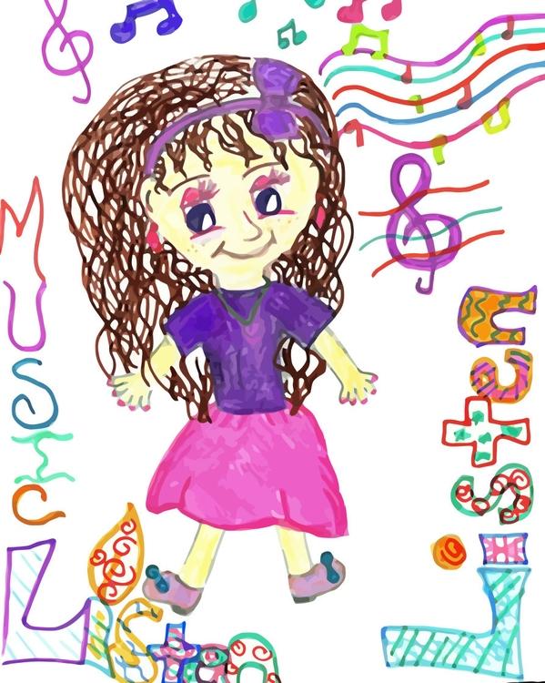 Tune Listening Skills - children'sillustration - jennziegirl | ello