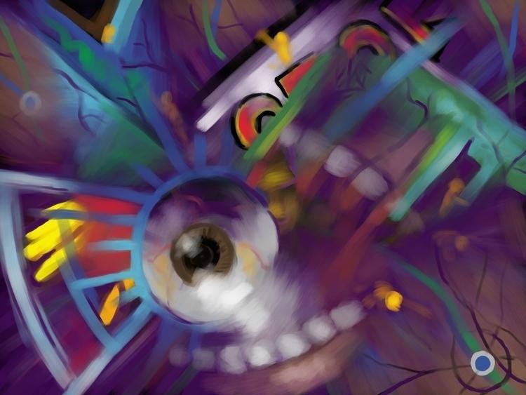 Falling - Digital Corel Painter - bkthompson   ello