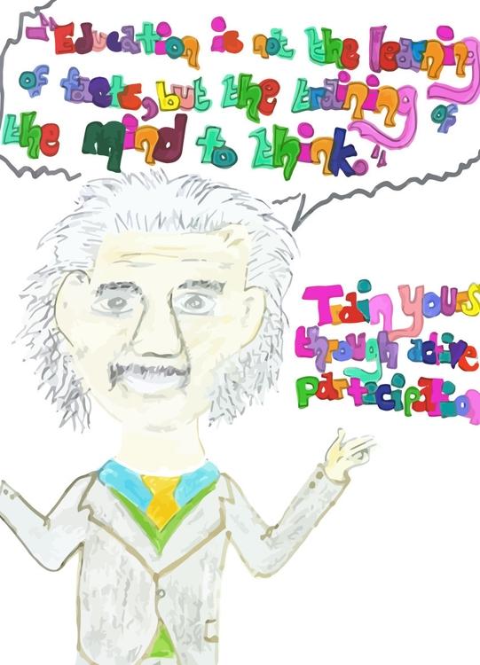 Einstein - education, children'sillustration - jennziegirl | ello