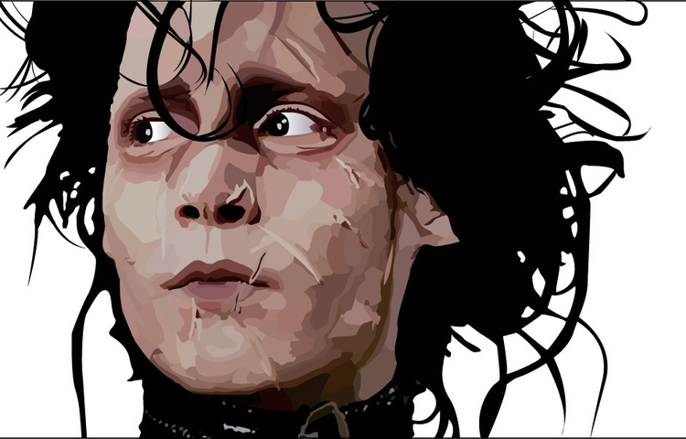Edward Scissorhands - illustration - neydaochoa | ello