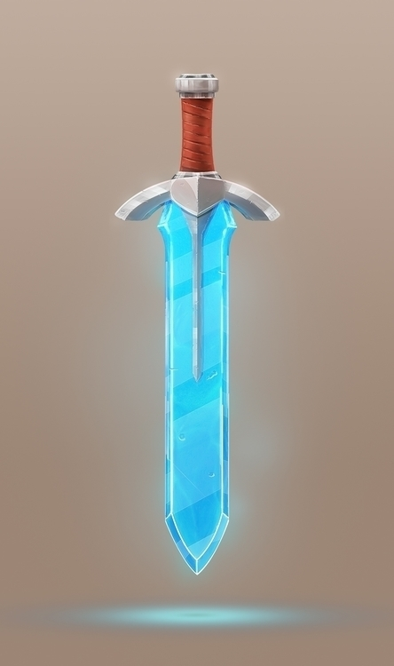 Crystal Sword. Drawn part logo - devinhansen | ello