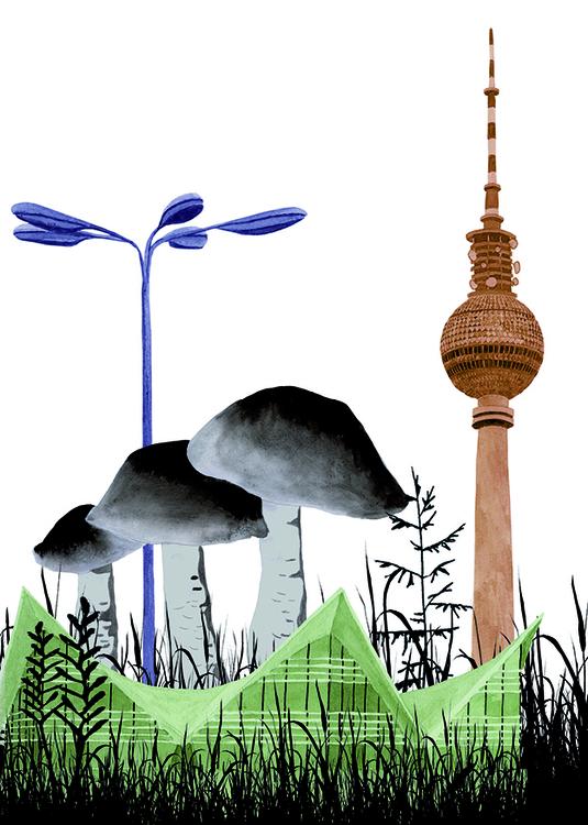 illustration, collage, medow - robincottage | ello