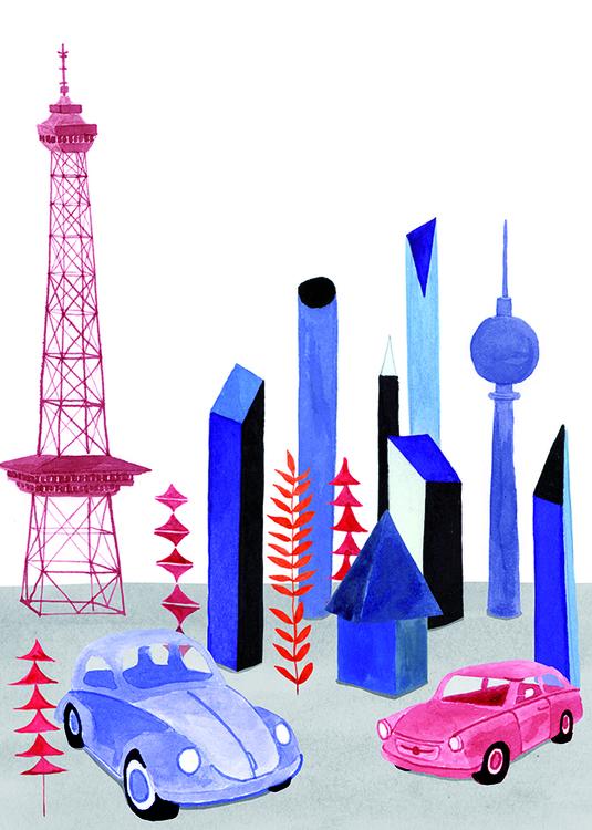 illustration, collage, buildings - robincottage | ello