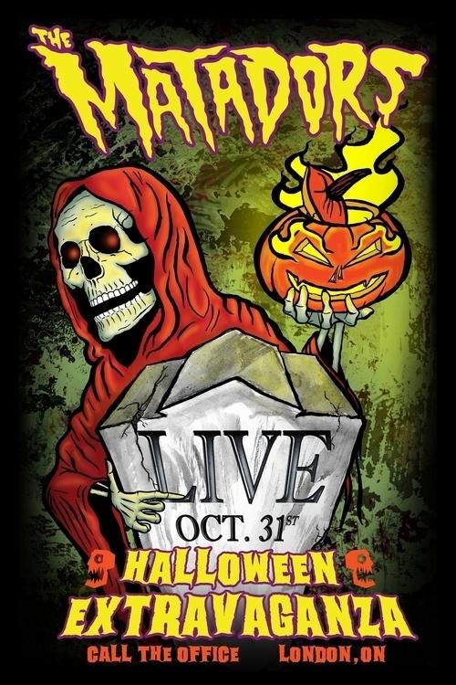 Band Poster Matadors Halloween  - scsladecarter | ello