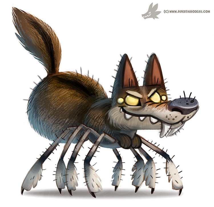 Daily Paint Wolf Spider - 1040. - piperthibodeau | ello