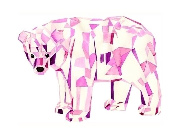 icebear, watercolour, bear, cristal - robincottage | ello
