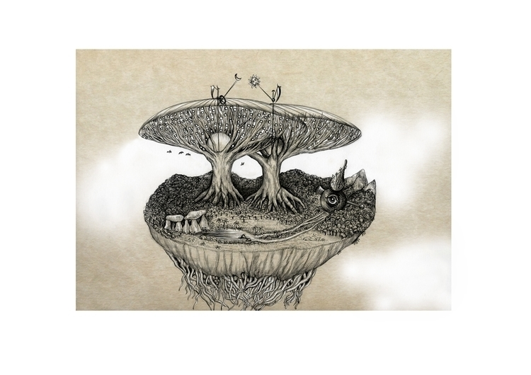 Paradise Level 6. Garden Eden - illustration - kamaarts | ello