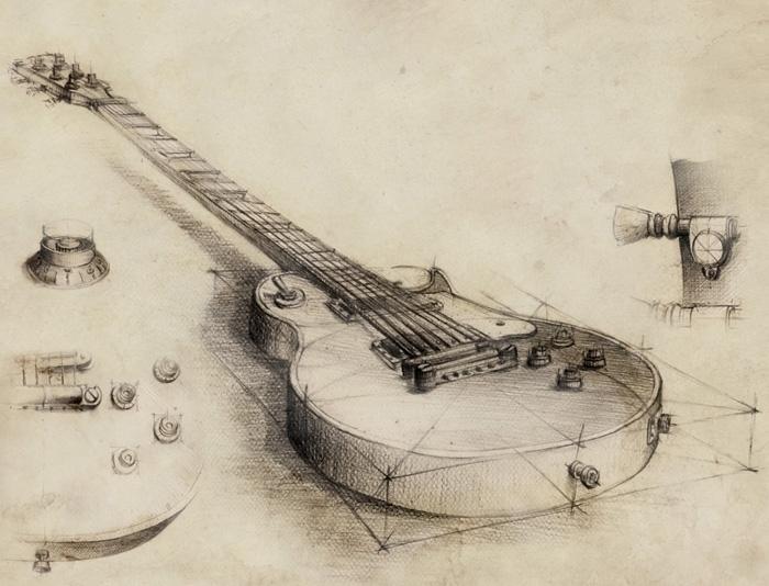 Sketches guitar rock band Bees  - grimdream | ello