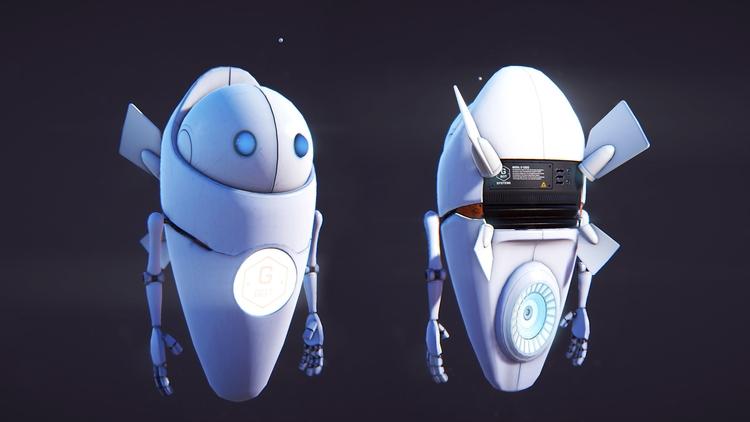 GBot game model engine - animation - miruku3d   ello