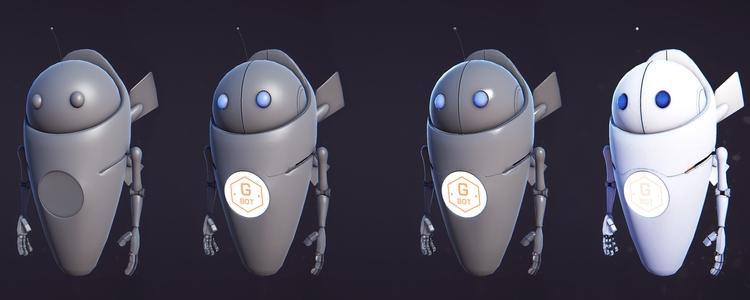 GBot MkI game model - animation - miruku3d | ello