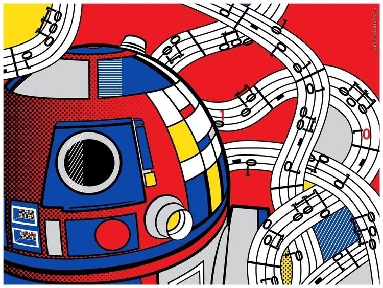 Star Wars Pop Art - Abstract R2 - bergie81 | ello