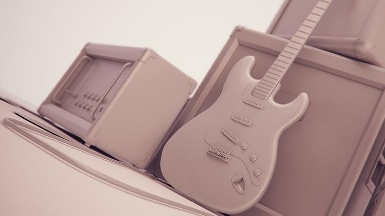 Instrument Stack Clay Render - animation - miruku3d   ello