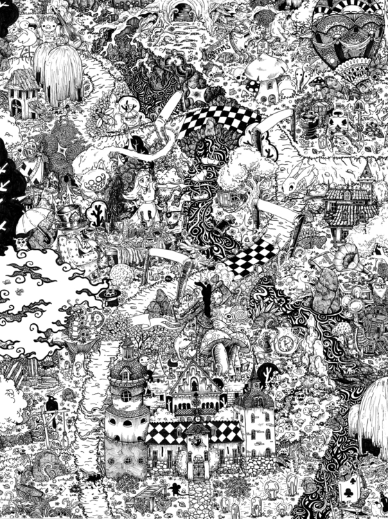 Alice Wonderland - illustration - wyldtrees | ello