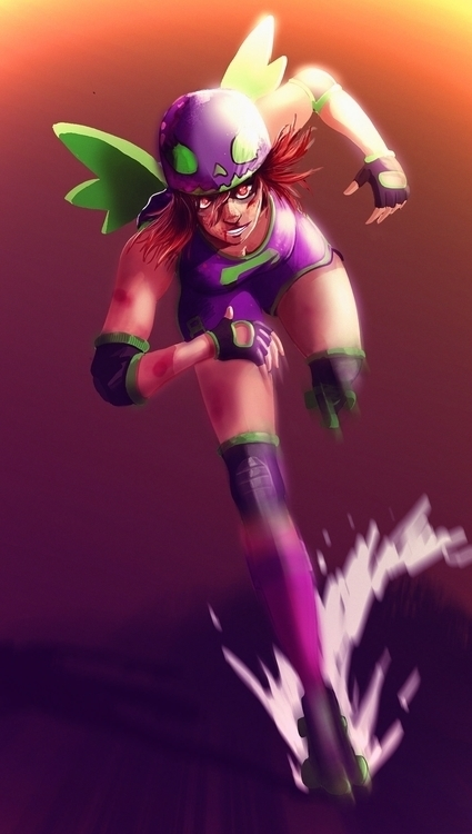 Roller Derby girl - yourizered   ello