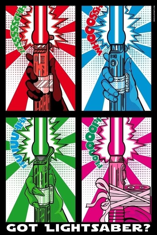 Star Wars Pop Art - Lightsaber - bergie81 | ello