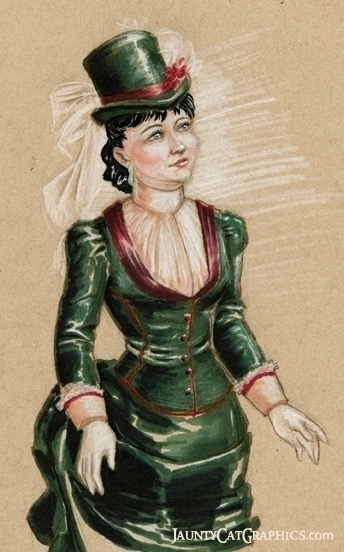 Late Victorian styled maiden - illustration - tyrawilloughby | ello