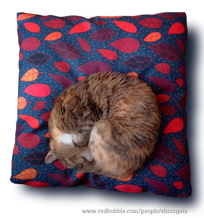 Cat approved pattern design - fabric - pushkina   ello