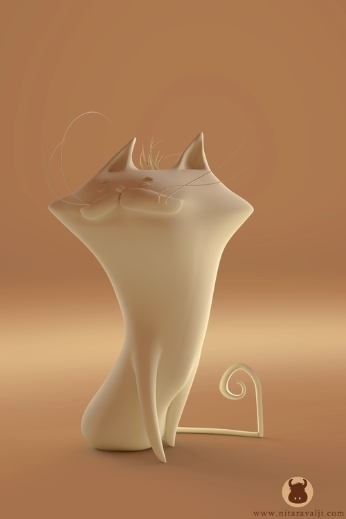 Pink cat Clay render - nitz-5881 | ello