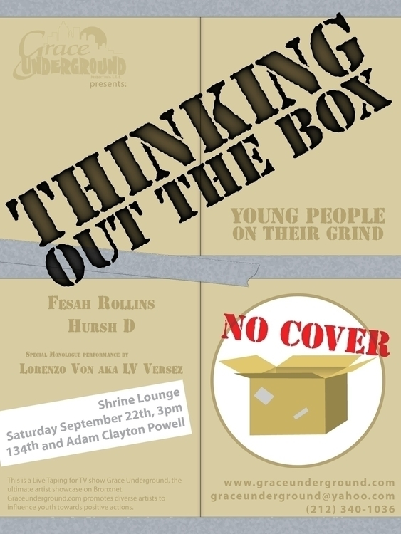 Event flyer - Thinking Box - graphicdesign - bkthompson | ello