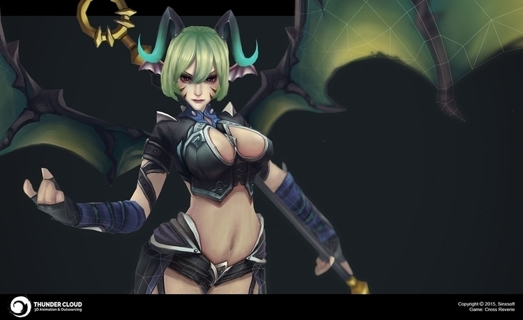 Succubus boss Cross Reverie Sin - thundercloudstudio | ello