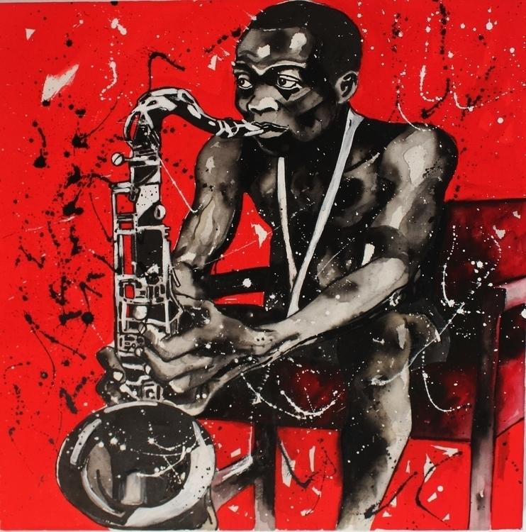 Fela Anikulapo Kuti - painting - adholla | ello