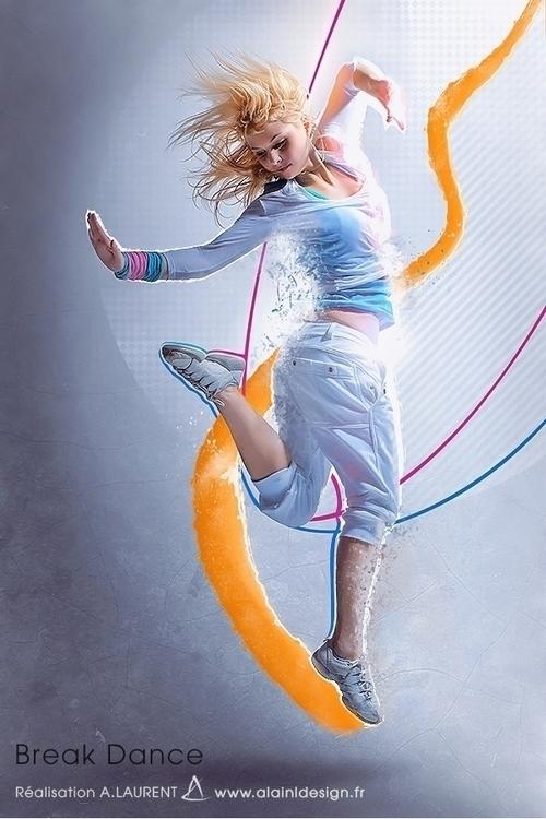 Break Dance - digitalart, graphicdesign - alainldesign | ello