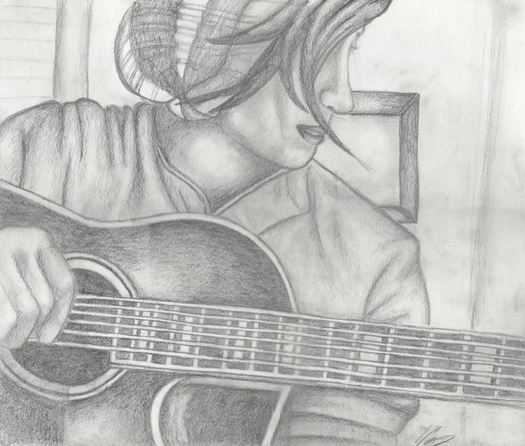 Portrait pencil drawing Maria T - mariatrester | ello