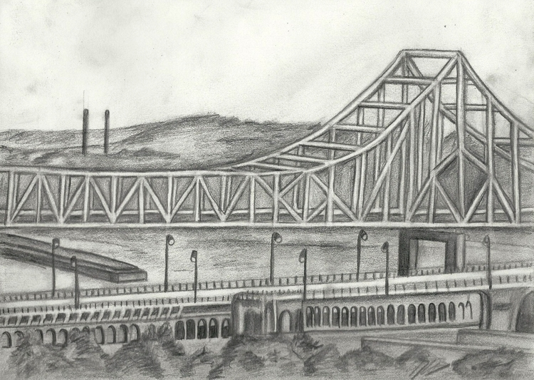 St Louis Bridge. Original penci - mariatrester | ello