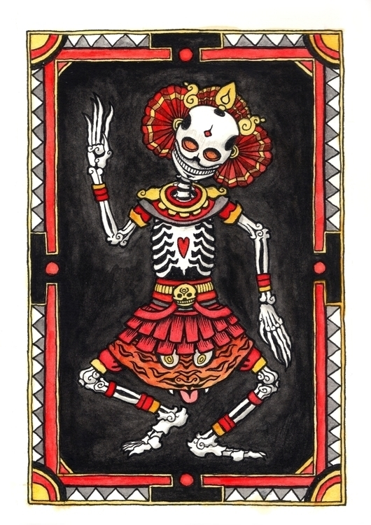 Tibetan Dance Dead - illustration - bluemask-5749 | ello