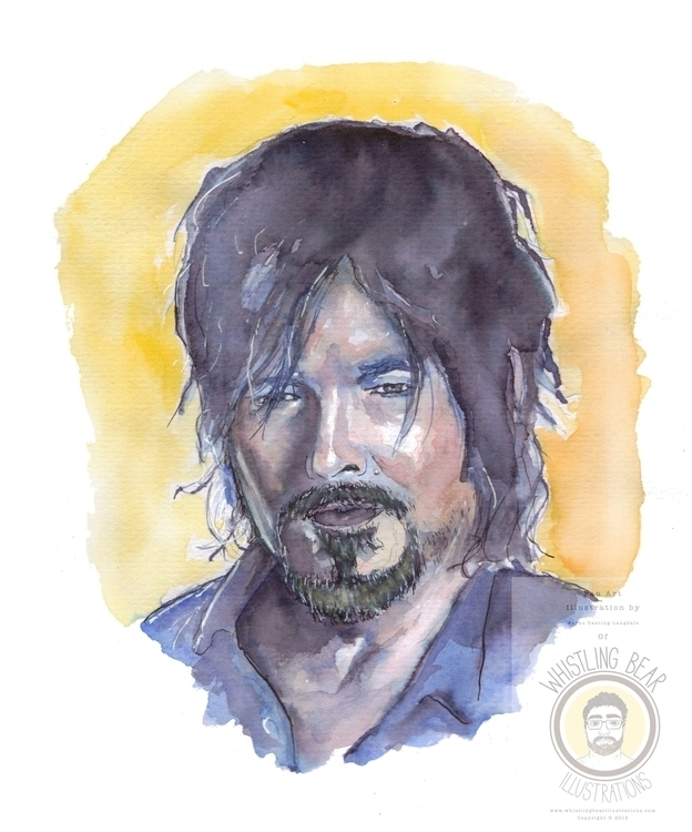 Daryl Walking Dead, fan art ill - whistlingbear | ello