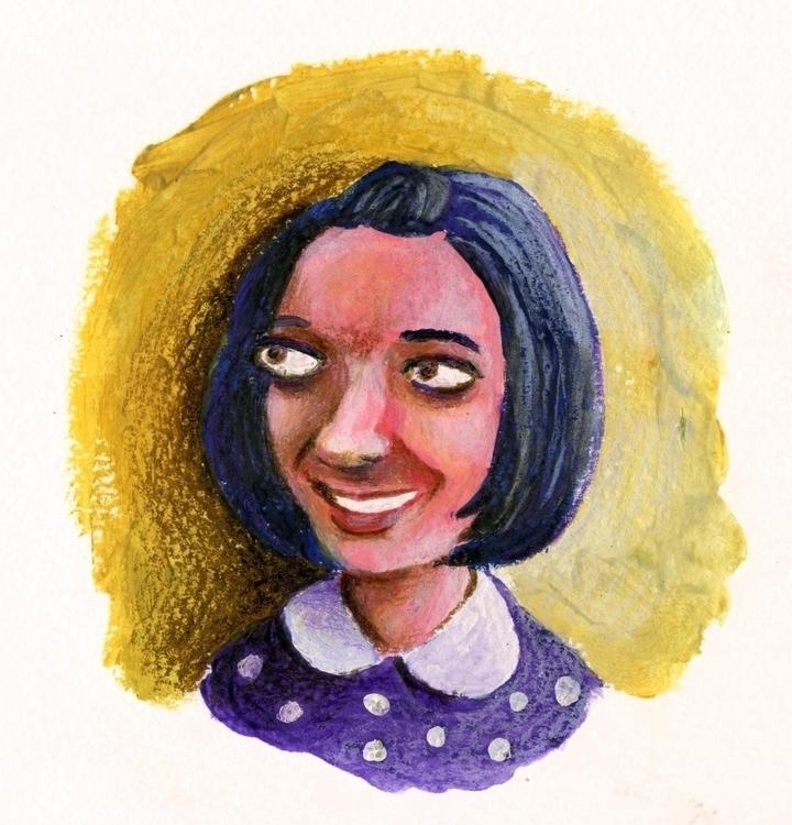 Portrait girl - gouache, pencil - prianikn | ello