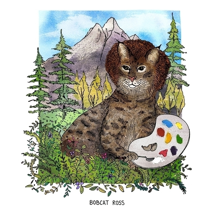 Bobcat Ross (Bob - humor, pun, wordplay - nanu_illustration | ello