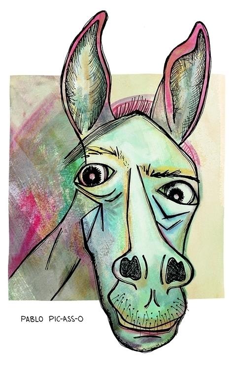 Pablo (Pablo Picasso - humor, digitalart - nanu_illustration | ello