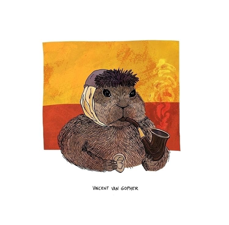 Vincent van Gopher (Vincent Gog - nanu_illustration   ello