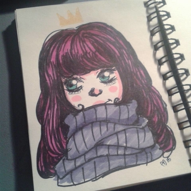 Day 12 - illustration, inktober - andymendo | ello