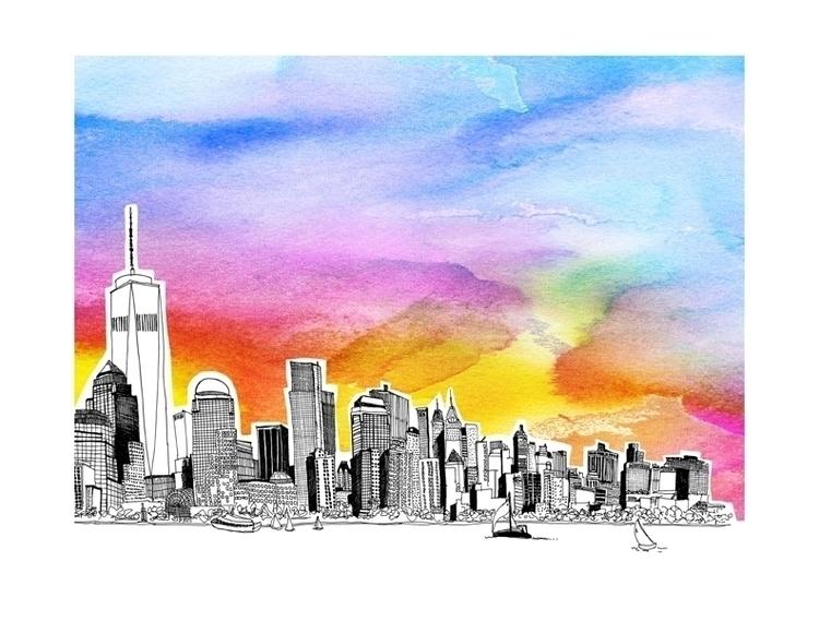 York City, Financial District v - nanu_illustration | ello