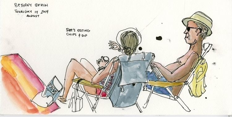 Beach lounging2 - people, figure - nanu_illustration | ello