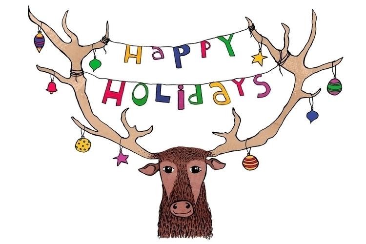 Happy Holidays - greetingcard, illustration - nanu_illustration | ello