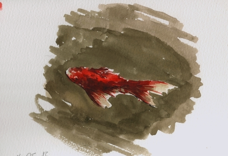 Goldfish, 20 17 Watercolor - watercolors - juliusiv | ello