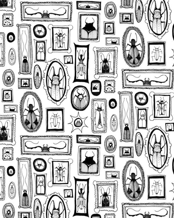 Bug portrait pattern - bugs, illustration - nanu_illustration | ello